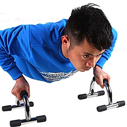 FidgetFidget Training Gym Black Color Pushup Handles Bar Stands Home Fitness Exercise Workout by FidgetFidget