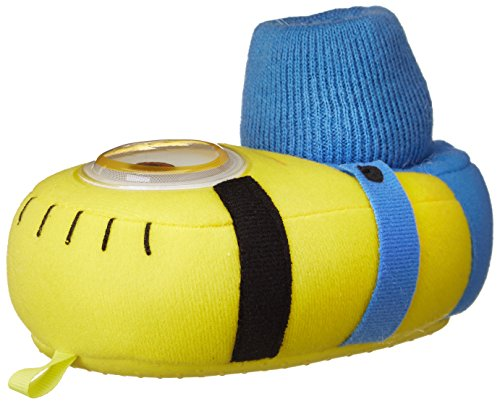 Despicable Me Minions Kids Stuart Sock Top Slippers (7/8 M US Toddler) (Despicable Me Shoes)
