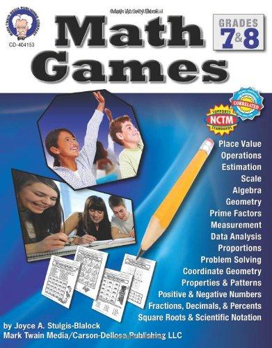 Math Games, Grades 7 & 8