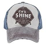 Men Women Distressed Baseball Cap Vintage Hat Trucker Adjustable Canvas Coffee