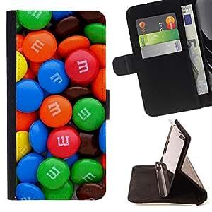 - Queen Pattern FOR LG Nexus 5 D820 D821 /La identificaci????n del cr????dito ranuras para tarjetas tir????n de la caja Cartera de cuero cubie - candy chocolate blue red sweets -