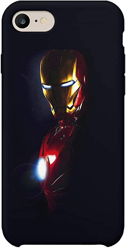 GlamourLab Iron Man in The Dark Protective Case Cover Hard Plastic Handyhülle Schutz Hülle for iPhone 6 / iPhone 6s Regalo di Natale