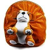 Richy Toys Dog Cute Teddy Soft Toy School Bag For Kids, Travelling Bag, Carry Bag, Picnic Bag, Teddy Bag (Golden Brown)