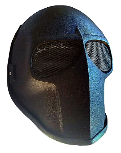 Deathstroke Costume Uk - Invader King ™Flat Black with Mesh Army of Two Airsoft Mask Protective Gear Outdoor Sport Fancy Party Ghost Masks Bb Gun