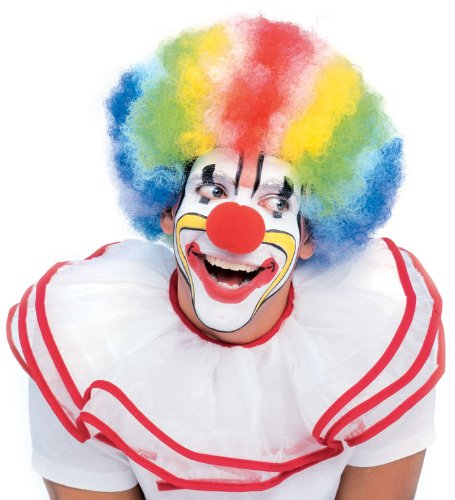 Rubie's Costume Rainbow Striped Clown Afro Wig, Multicolored, One Size