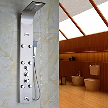 Luxurious shower Acero inoxidable Panel de la columna de ducha de ...