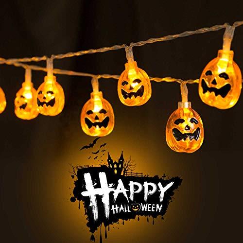 Halloween Pumpkin String Lights 9.8Ft 30 LED Halloween
