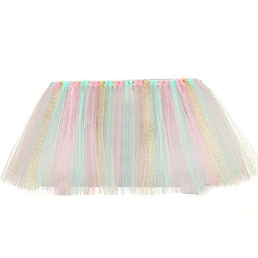 Falda de mesa, decoración de silla alta, tutú de tul para mesa ...