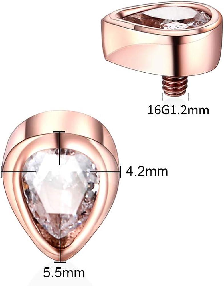 Dermal Anchor Anker Halbkugel Aufsatz Schwarz Gold 1,2x3//4//5mm Surface PIERCING