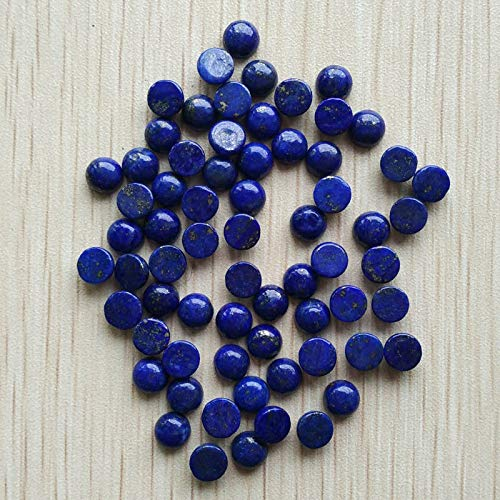 FidgetFidget Wholesale 50pcs/lot 6mm Natural Lapis Lazuli Round CAB CABOCHON Stones Beads