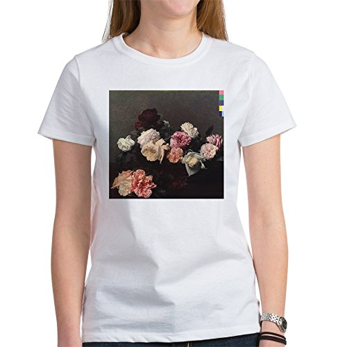 CafePress Power Corruption Lies Women's T Shirt Womens Cotton T-Shirt, Crew Neck, Comfortable & Soft Classic Tee White (New Order Power Corruption And Lies Shirt)