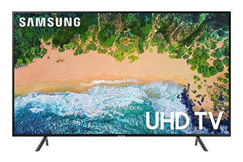 Samsung UN43NU7100 / UN43NU710D Flat 43in 4K UHD 7 Series Smart LED TV (2018) (Renewed) (Tv Sizes)
