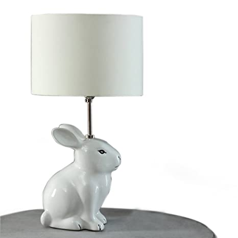 Pinch of pretty ceramic snow ball rabbit table lamp without bulb pinch of pretty ceramic snow ball rabbit table lamp without bulb white aloadofball Image collections