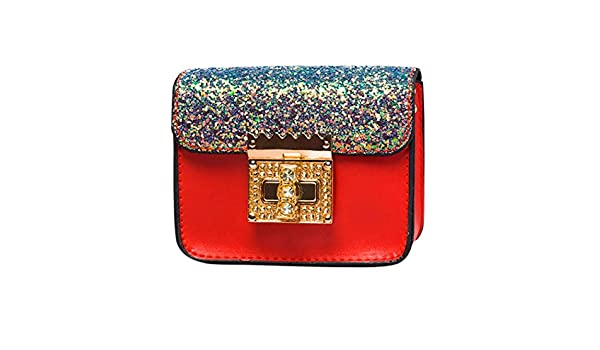 d15df0343d95c Amazon.com  Small Shoulder Bag Crossbody Bag For Women Glitter Purse  Evening Messenger Bag With Chain Strap (Red)  Hattfart