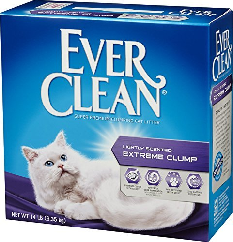 Extreme Cat (Ever Clean Lightly Scented Extreme Clump Cat Litter, 14-Pound Box)