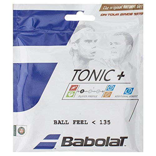 Natural Gut 15l - Babolat Tonic+ Ball Feel 15L Natural Gut Tennis String by Babolat