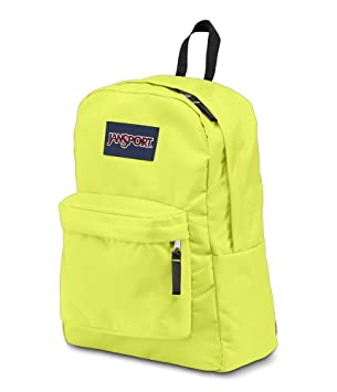 Amazon.com: JanSport SuperBreak Backpack (Neon Yellow): Sports ...