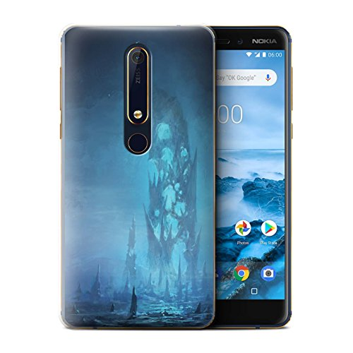 Official Chris Cold Phone Case/Cover for Nokia 6 2018 (6.1) / Remnant Design/Alien World Cosmos Collection