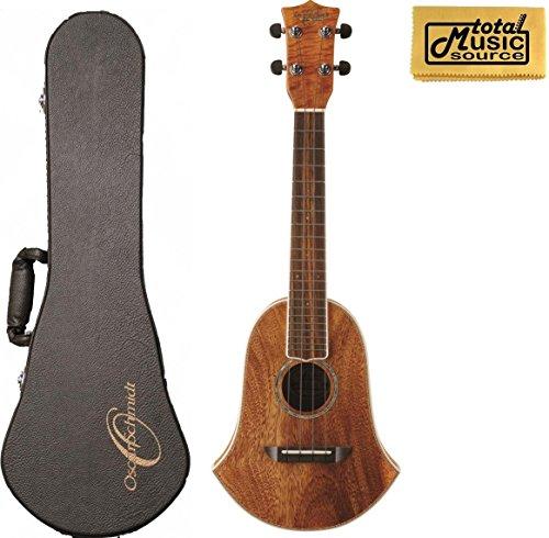 Oscar Schmidt Washburn OU250BELL Concert Acoustic Ukulele w/Hard Case & - Ukulele Shape