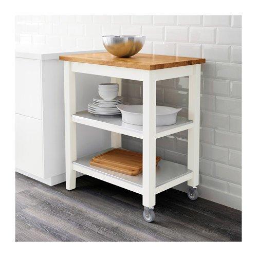 Ikea Stenstorp Kitchen Cart, White, Oak