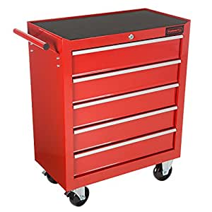 storage drawers on wheels rolling tool box cabinet 5 drawer portable 26871