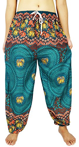 "[Lovely Creations's Unisex Plus Size Pants Adjustable Waist 24-44"" US size 0-20 (JA Green3)] (North Indian Dance Costumes)"