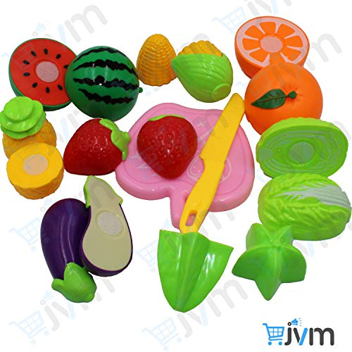 JVM® Realistic Sliceable 8 Pcs Fruits and Vegetables Cutting Play Toy Set, Can Be Cut in 2 Parts, Assorted (B07W7SSM3X) Amazon Price History, Amazon Price Tracker
