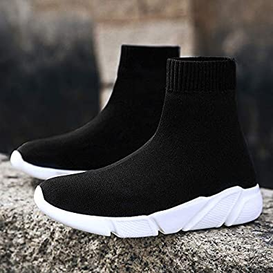 Amazon.com | clcour Breathable Ankle Boot Women Socks Shoes Female Sneakers Casual Elasticity Wedge Platform Shoes Zapatillas Mujer Soft Sole | Fashion ...