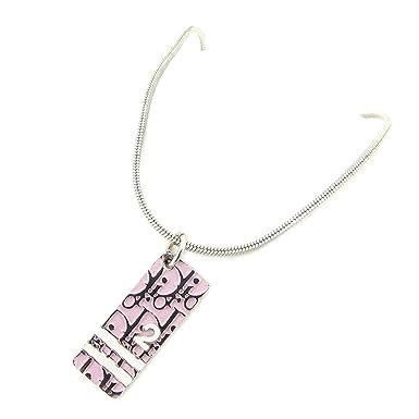 988d137523 Amazon.co.jp: (ディオール) Christian Dior ネックレス アクセサリー ピンク シルバー ホワイト 白 トロッター  レディース 中古 T7318: 服&ファッション小物