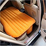Milai Car inflatable bed, car baby air bed, thick flocked air bed car inflatable bed car (Orange)