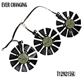 Rarido New 87MM Everflow T129215SU DC 12V 0.50AMP 4Pin 4 Wire Cooling Fan for ASUS GTX980Ti R9 390X 390 GTX1070 Graphics Card Fans - (Blade Color: Set)