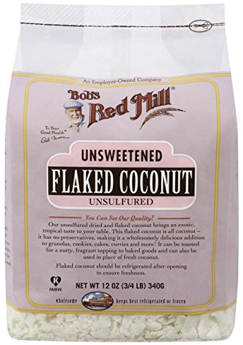 (Bob's Red Mill Unsweetened Flaked Coconut, 12 Ounce (3/4 LB ) 340g)