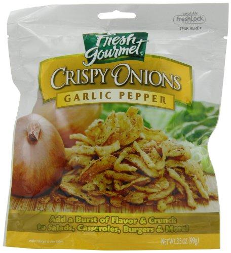 Fresh Gourmet Crispy Onions, Garlic Pepper, 3.5-Ounce (Pack of (Gourmet Salad)