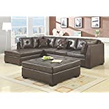 Coaster Darie Casual Brown Sectional