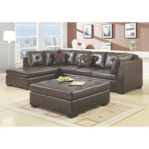 Coaster Home Furnishings 500686 Casual Sectional Sofa, Brown