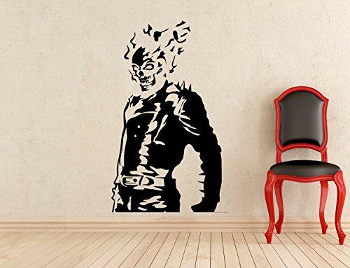 Ghost Rider Stickers Wall Vinyl Decals Home Interior Murals Art Decoration TT201 (Rider Vinyl Ghost Adult)