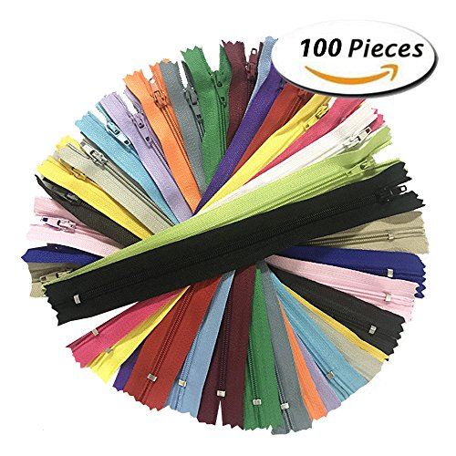 100pcs Mix 3# Nylon 20/color Closed End Coil Zippers Tailor Sewer Craft 20cm (8 Inch) Crafter's &FGDQRS (8 inch) (Closed End Zipper)