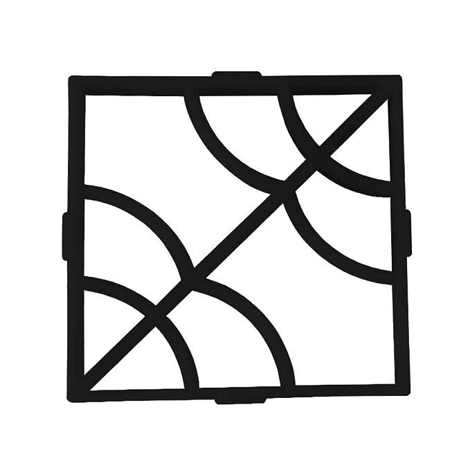 XTXWEN Encofrado de concreto, Molde de fundición 40X40X4 cm - para concreto, pavimento de Piedra Verde, guijarros, adoquines, Paneles de terraza, ...