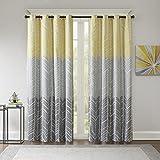 Intelligent Design ID40-1014 Window Curtain, 50×84, Yellow For Sale