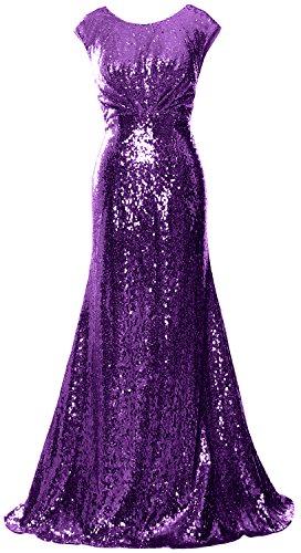 formale Purple Sequin abito d' sera partito onore donne da MACloth abito Fodero damigella lungo da qx68qgzw