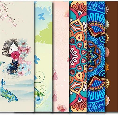 LINLIN 5 mm Lotus Pattern///TPE Yoga Mat Pad Antideslizante Ejercicio Adelgazante Fitness Gymnastics Mat Body Building Esterilla