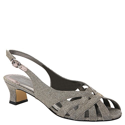 Ros Hommerson Women's Pearl Slingback,Silver Iridescent Glitter,US 9.5 M