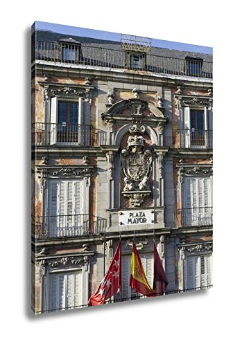 Ashley Canvas Facade Shield Main Square Madrid Spain, Wall Art Home Decor, Ready to Hang, Color, 20x16, AG5528389 by Ashley Canvas
