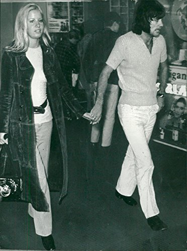 Vintage photo of George Best with the girlfriend Siv Hederby at Manchester ()