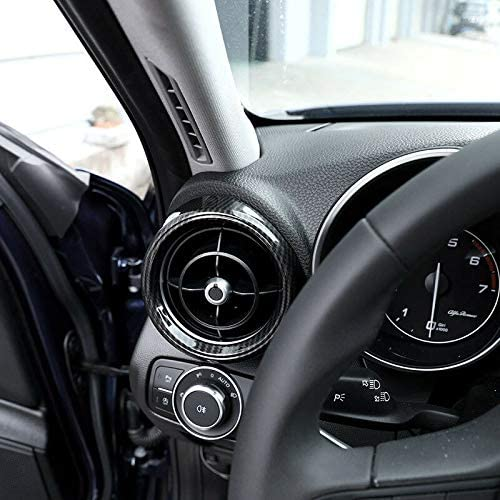 Vaorwne Echt Carbon Seiten Klimaanlage Entl/üFtung Auslass Abdeckung f/ür Alfa Romeo Giulia 17-18