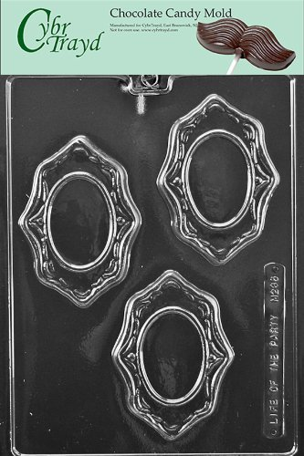 Cybrtrayd M236 Oval Frames Miscellaneous Chocolate Candy Mold