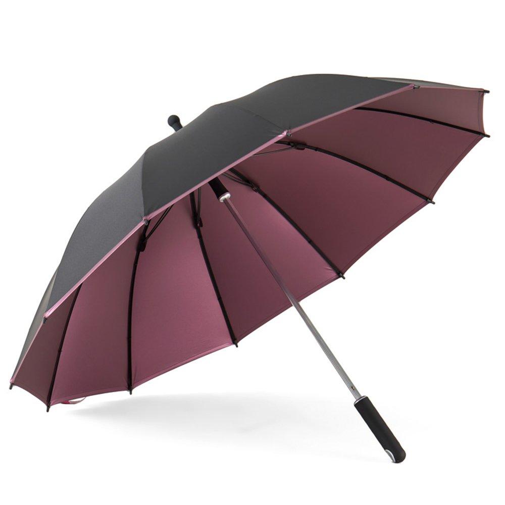 Gyl yusan lwfb傘/二層/Parasols/防風/long-handled/シンプルビジネスポータブルスティック傘(2色使用可能) Bumbershoot  パープル B07DDGGVKC