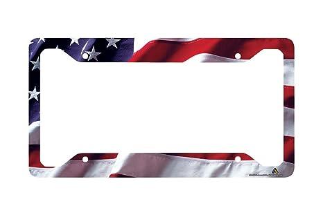 Amazon.com: Airstrike American Flag License Plate Frame, American ...