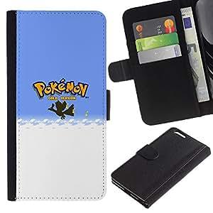 NEECELL GIFT forCITY // Billetera de cuero Caso Cubierta de protección Carcasa / Leather Wallet Case for Apple Iphone 6 PLUS 5.5 // Empuje Monster