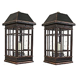 "51TnyP2wvyL. SS300  - Smart Solar 3960KR1 15"" San Rafael II Table Top Solar Mission Lantern"